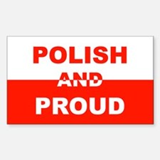 Polish And Proud Rectangle Decal