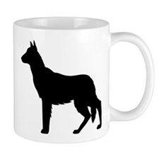 Christmas or Holiday German Shepherd Silhouette Mu
