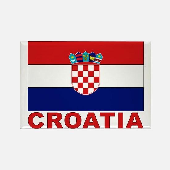 Croatia Flag Rectangle Magnet