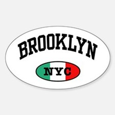 Italian Brooklyn NYC Oval Decal