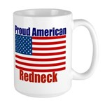 Proud American Redneck Large Mug