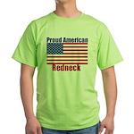 Proud American Redneck Green T-Shirt