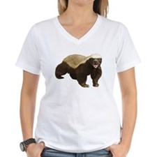 Honey Badger Cut-out cropped T-Shirt