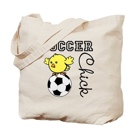 Soccer Chick Tote Bag
