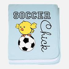 Soccer Chick baby blanket