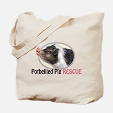 Potbellied Pig Rescue Tote Bag