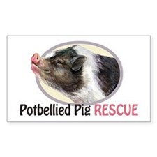 Potbellied Pig Rescue Decal