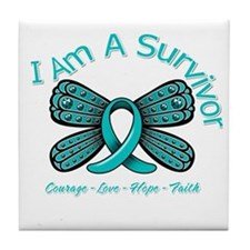 PCOS I'm A Survivor Tile Coaster