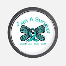 PCOS I'm A Survivor Wall Clock