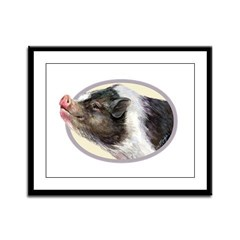 Potbellied Pigs Framed Panel Print