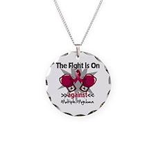 Fight Multiple Myeloma Necklace Circle Charm