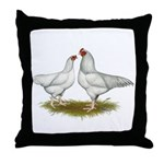 Ixworth Chickens Throw Pillow