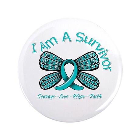 """PKD I'm A Survivor 3.5"""" Button"""