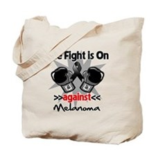 Fight is On Melanoma Tote Bag