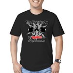 Fight is On Melanoma Men's Fitted T-Shirt (dark)
