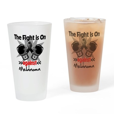 Fight is On Melanoma Drinking Glass