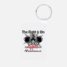 Fight is On Melanoma Keychains