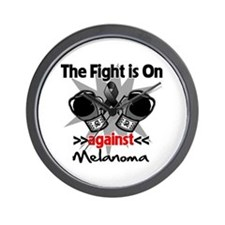 Fight is On Melanoma Wall Clock