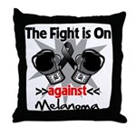 Fight is On Melanoma Throw Pillow