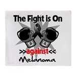 Fight is On Melanoma Throw Blanket