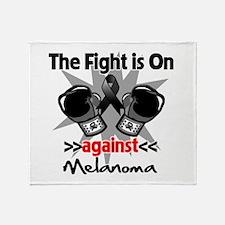 Fight is On Melanoma Throw Blanket