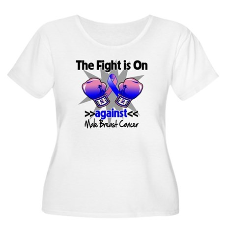Fight Male Breast Cancer Women's Plus Size Scoop N