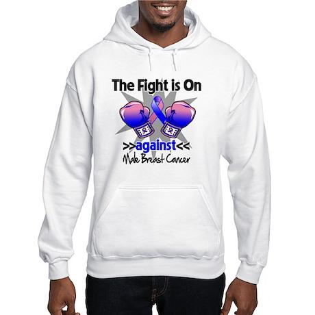 Fight Male Breast Cancer Hooded Sweatshirt