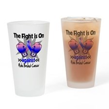 Fight Male Breast Cancer Drinking Glass