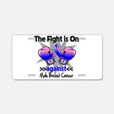 Fight Male Breast Cancer Aluminum License Plate