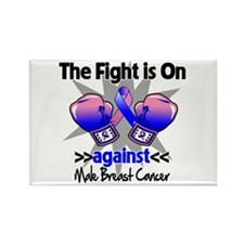 Fight Male Breast Cancer Rectangle Magnet