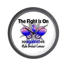 Fight Male Breast Cancer Wall Clock