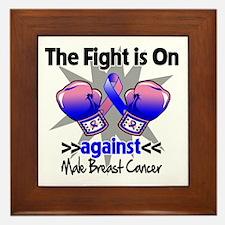 Fight Male Breast Cancer Framed Tile