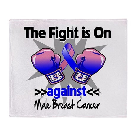 Fight Male Breast Cancer Throw Blanket
