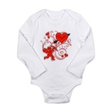 Cupid Strikes Long Sleeve Infant Bodysuit