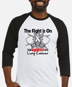 Fight is On Lung Cancer Baseball Jersey