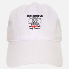 Fight is On Lung Cancer Baseball Baseball Cap