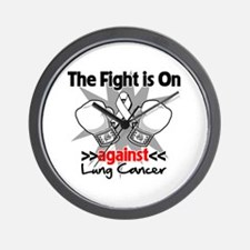 Fight is On Lung Cancer Wall Clock