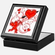 Cupid Strikes Keepsake Box