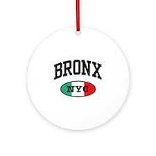Italian Bronx NYC Ornament (Round)