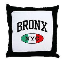 Italian Bronx NYC  Throw Pillow