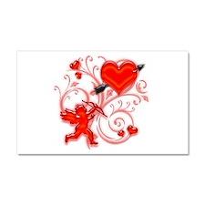 Cupid Strikes Car Magnet 20 x 12
