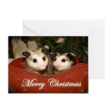 """Merry Christmas"" Opossums Card"