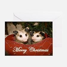 """Merry Christmas"" Opossums Card"