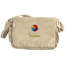 Susana Valentine Flower Messenger Bag