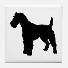 Fox Terrier Silhouette Tile Coaster