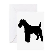Fox Terrier Silhouette Greeting Card