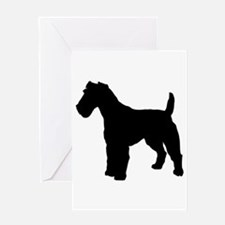 Fox Terrier Silhouette Greeting Card