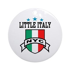 Little Italy NYC Ornament (Round)