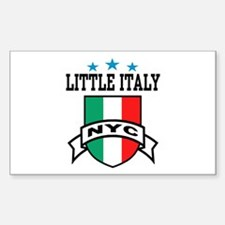 Little Italy NYC Rectangle Decal