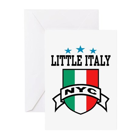 Little Italy NYC Greeting Cards (Pk of 10)